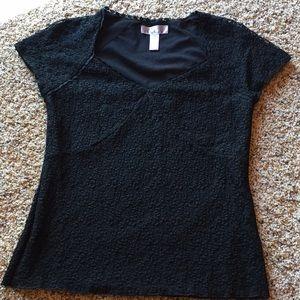 Nine West Black Lace top M